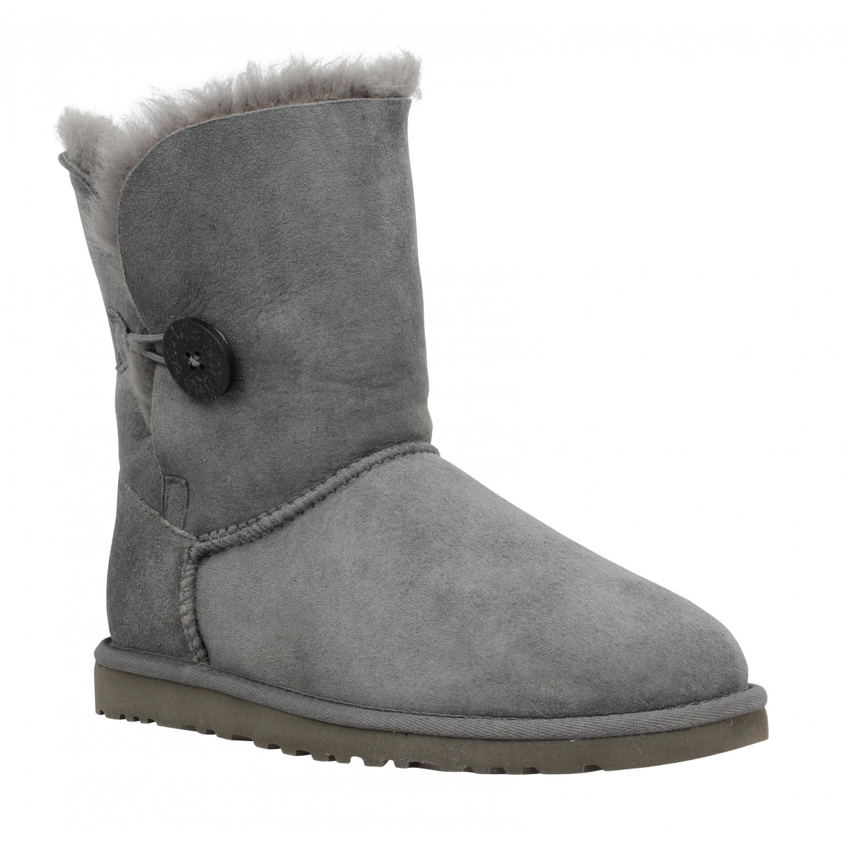 Bottines UGG AUSTRALIA Bailey Button velours Femme Gris