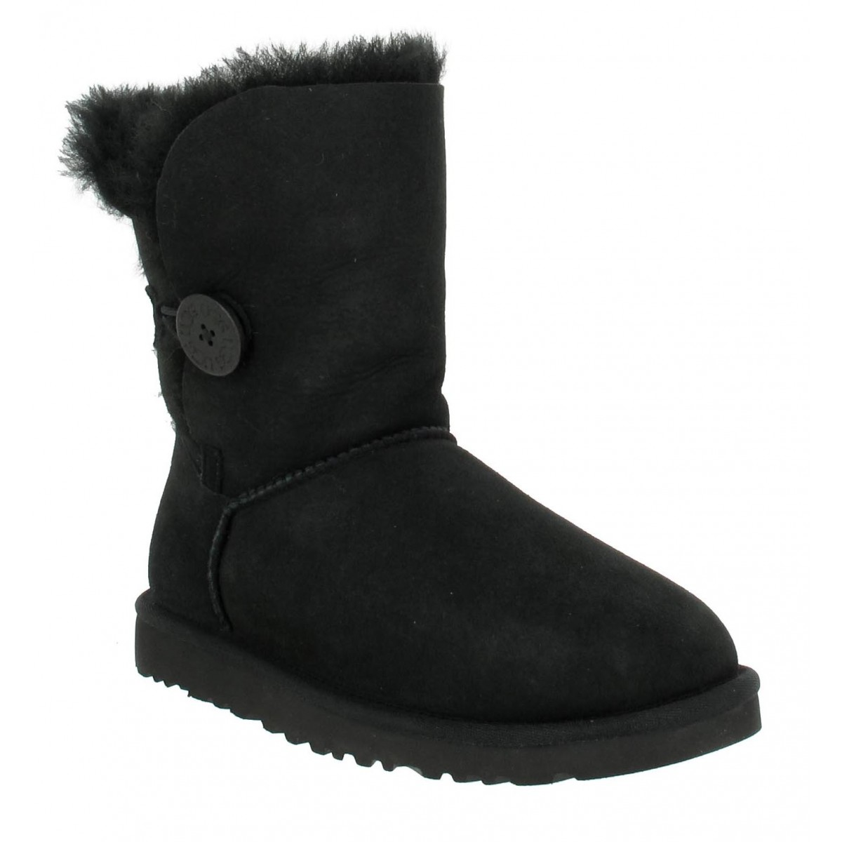 Bottines UGG AUSTRALIA Bailey Button velours Femme Noir