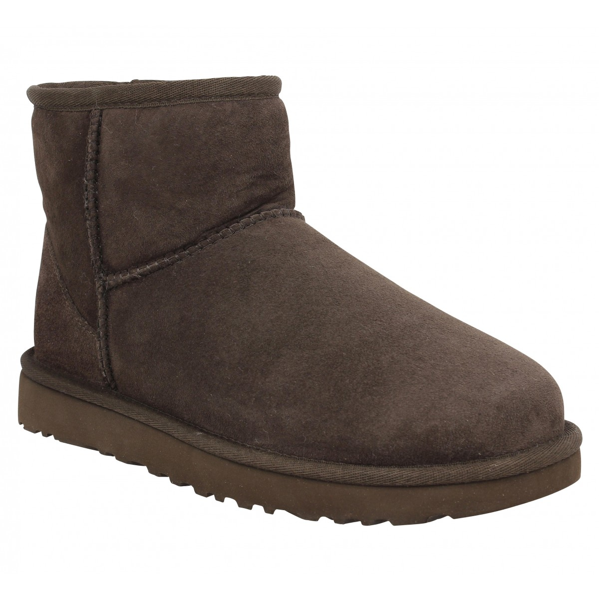 Bottines UGG AUSTRALIA Classic Mini velours Chocolat