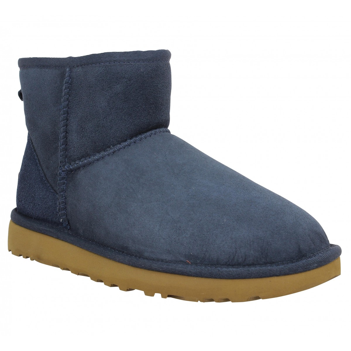 Bottines UGG AUSTRALIA Classic Mini velours Navy