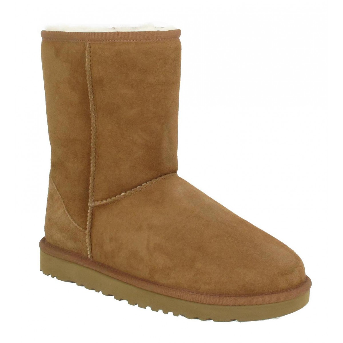 Bottines UGG AUSTRALIA Classic Short velours Homme Chestnut