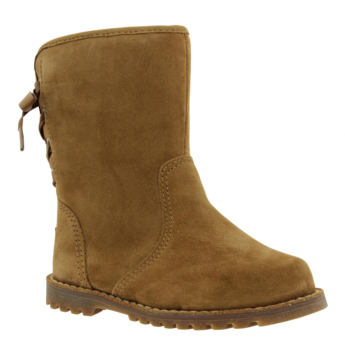 Bottines UGG AUSTRALIA Corene velours Enfant Chestnut