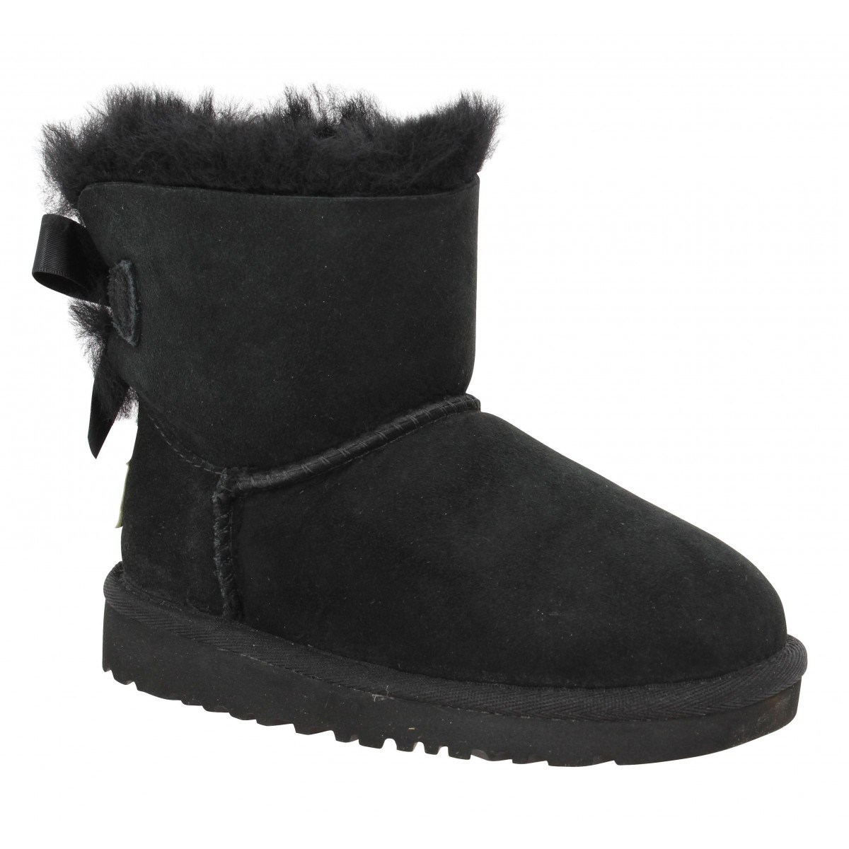 Bottines UGG AUSTRALIA Mini Bailey Bow velours Enfant Noir