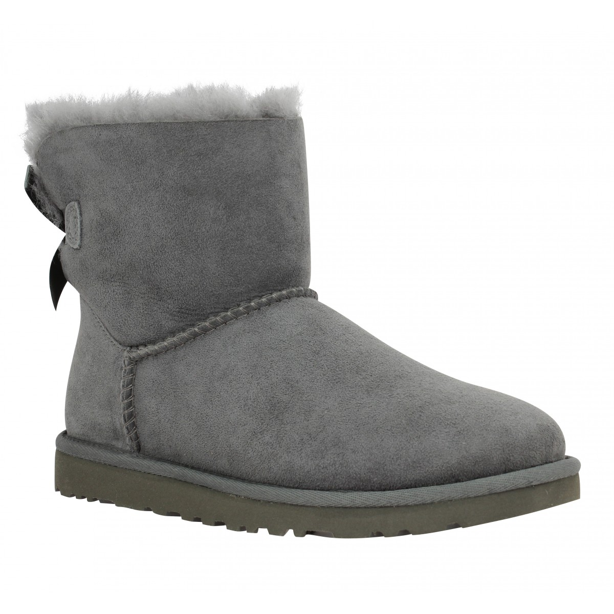 Bottines UGG AUSTRALIA Mini Bailey Bow velours Femme Gris
