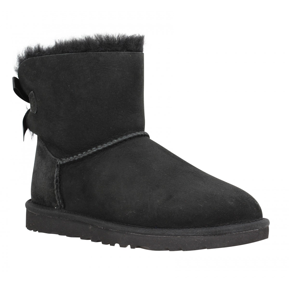 Bottines UGG AUSTRALIA Mini Bailey Bow velours Femme Noir