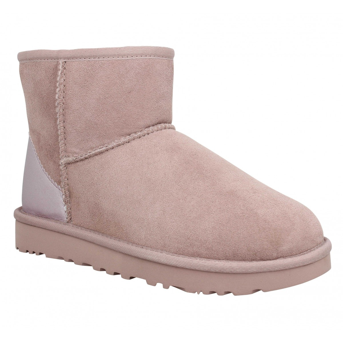 Bottines UGG Classic Mini Metallic velours Femme Dusk