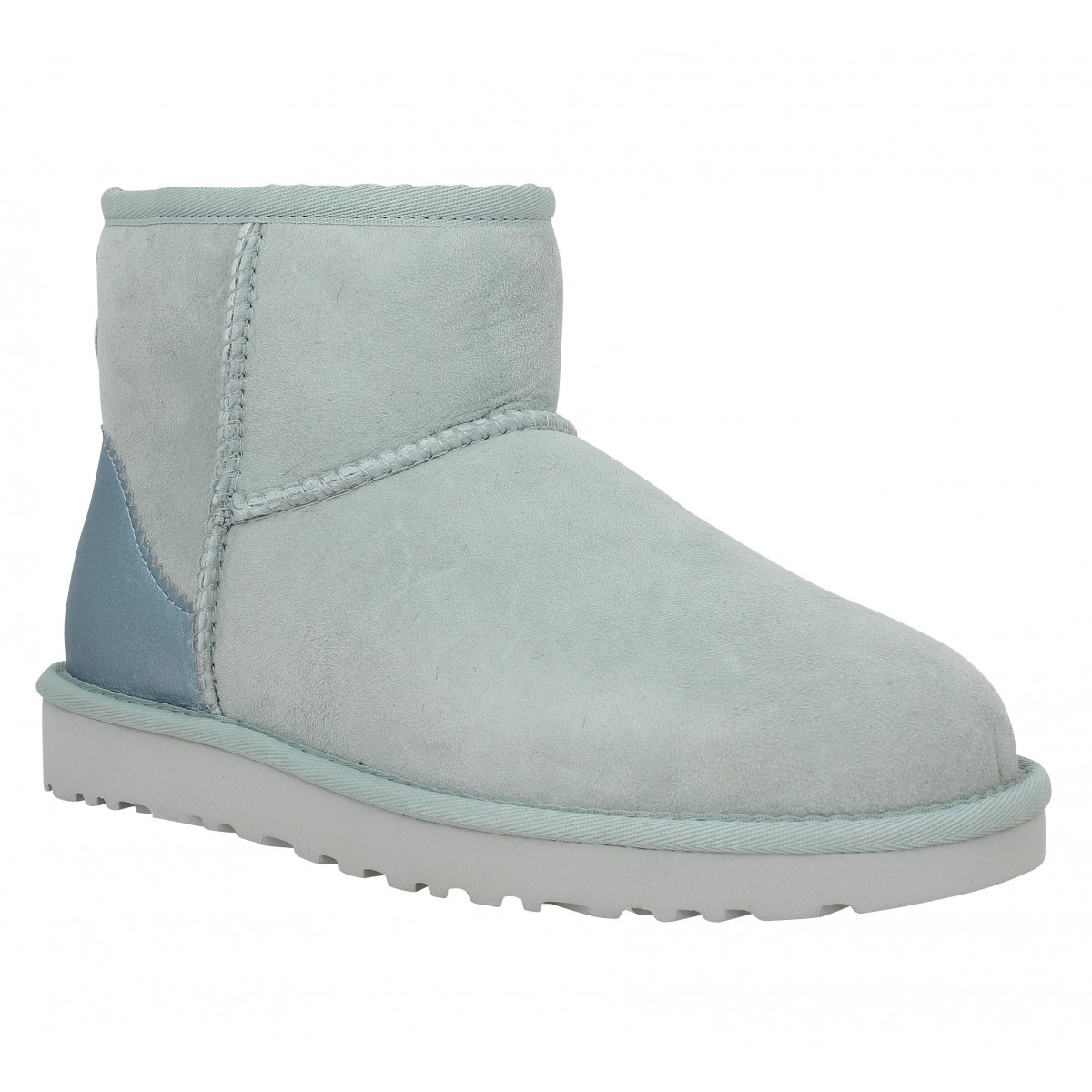 Bottines UGG Classic Mini Metallic velours Femme Iceberg