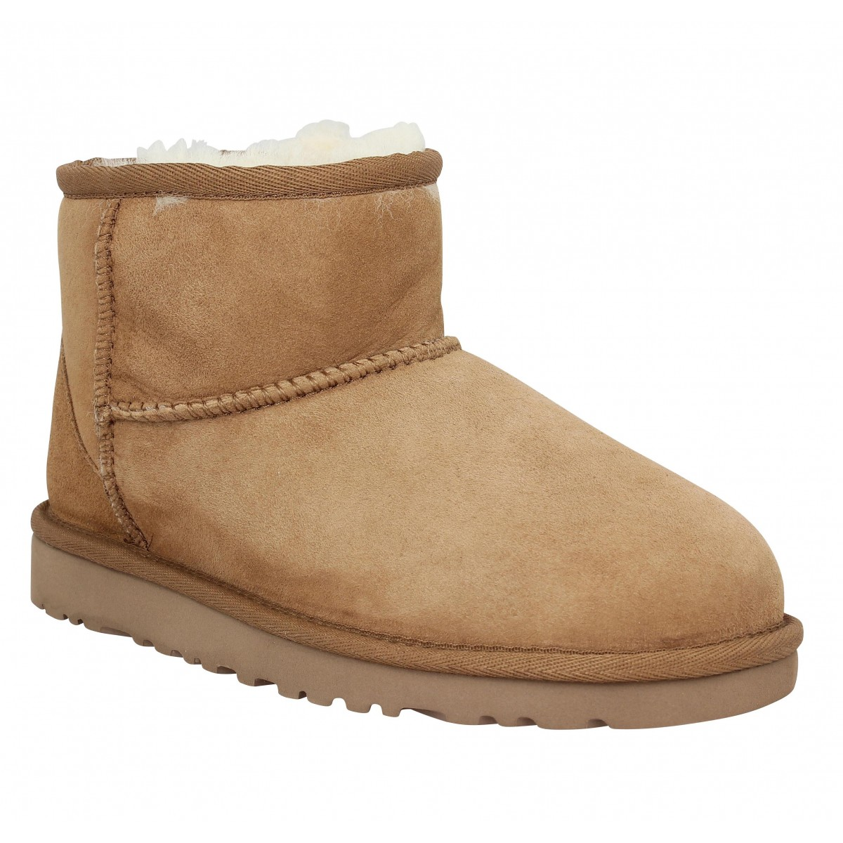 Bottines UGG Classic Mini velours Enfant Chestnut