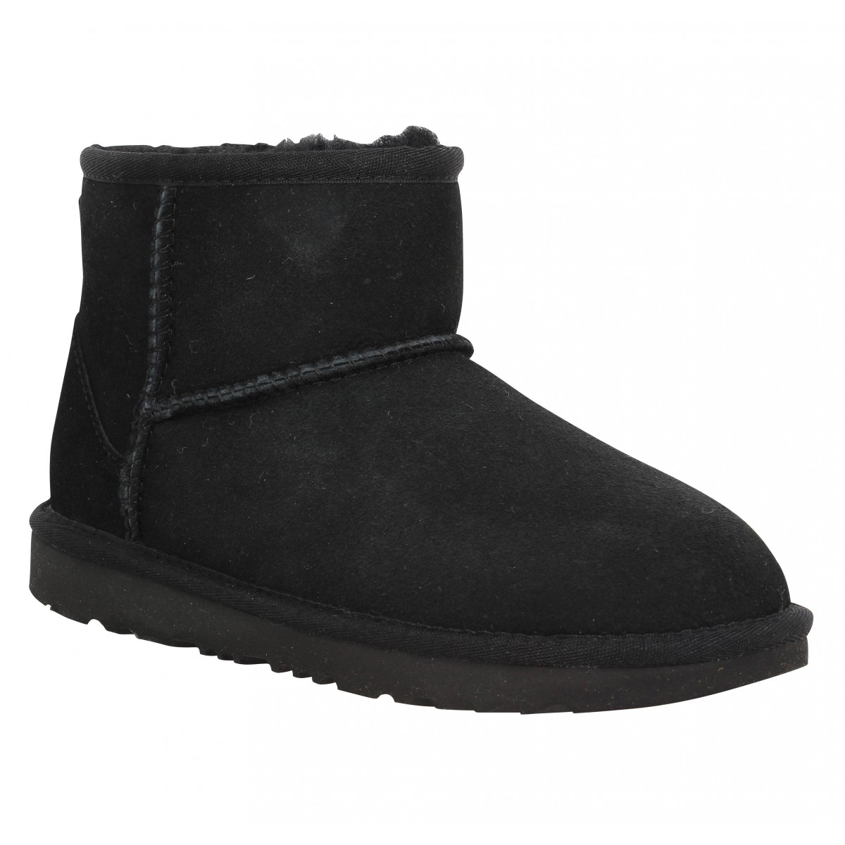 Bottines UGG Classic Mini velours Enfant Noir