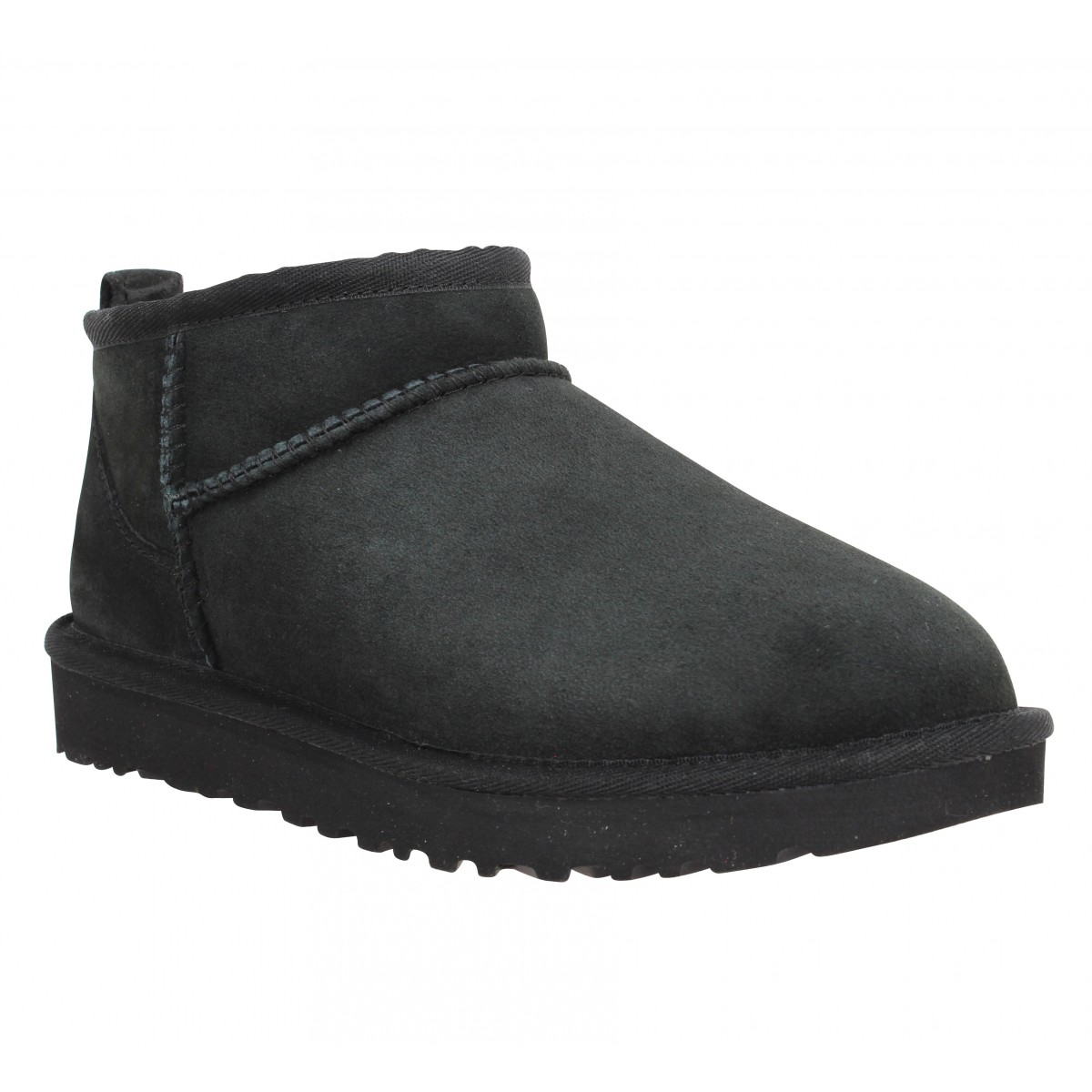 Bottines UGG Classic Ultra Mini velours Femme Noir
