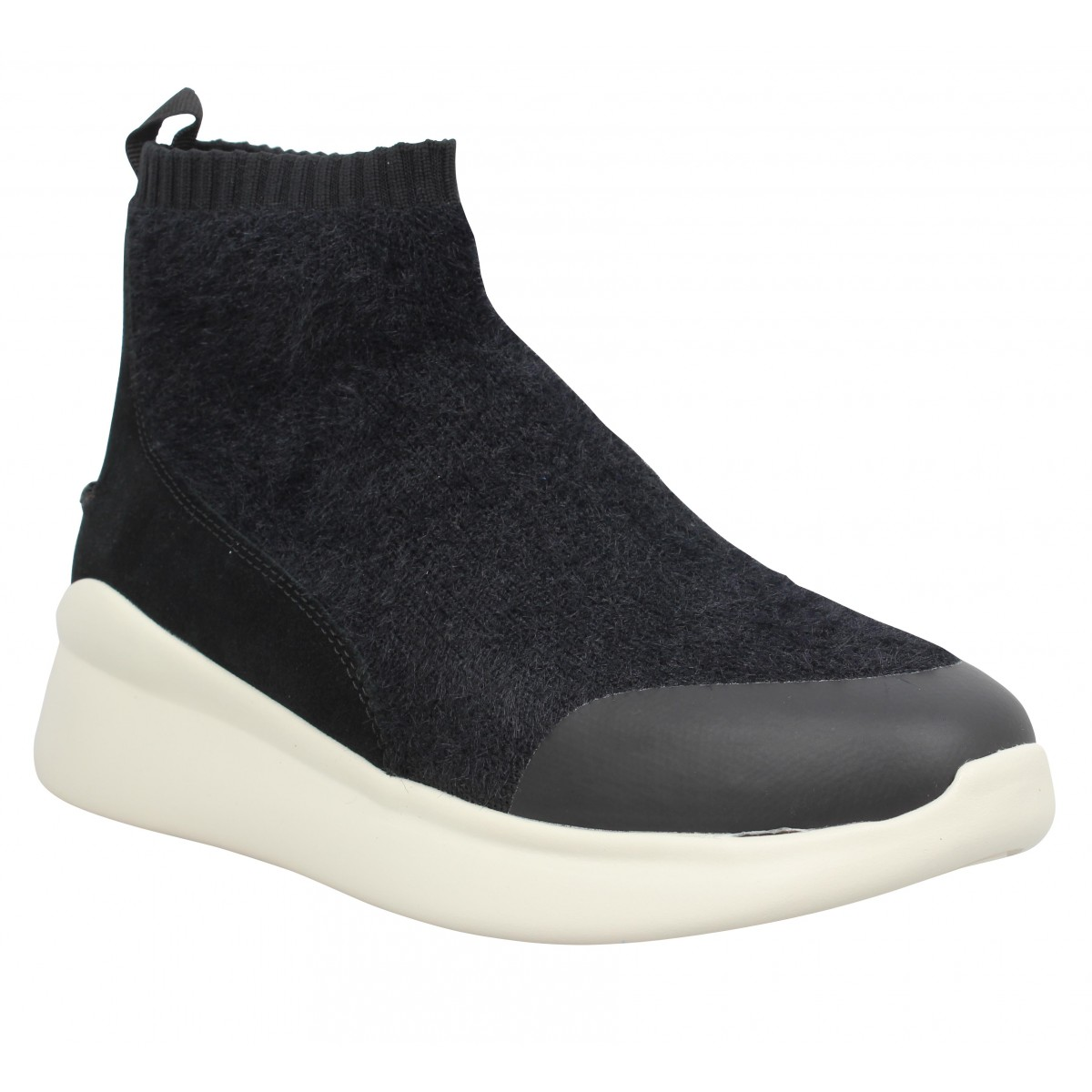 Baskets UGG Griffith tricot Femme Noir