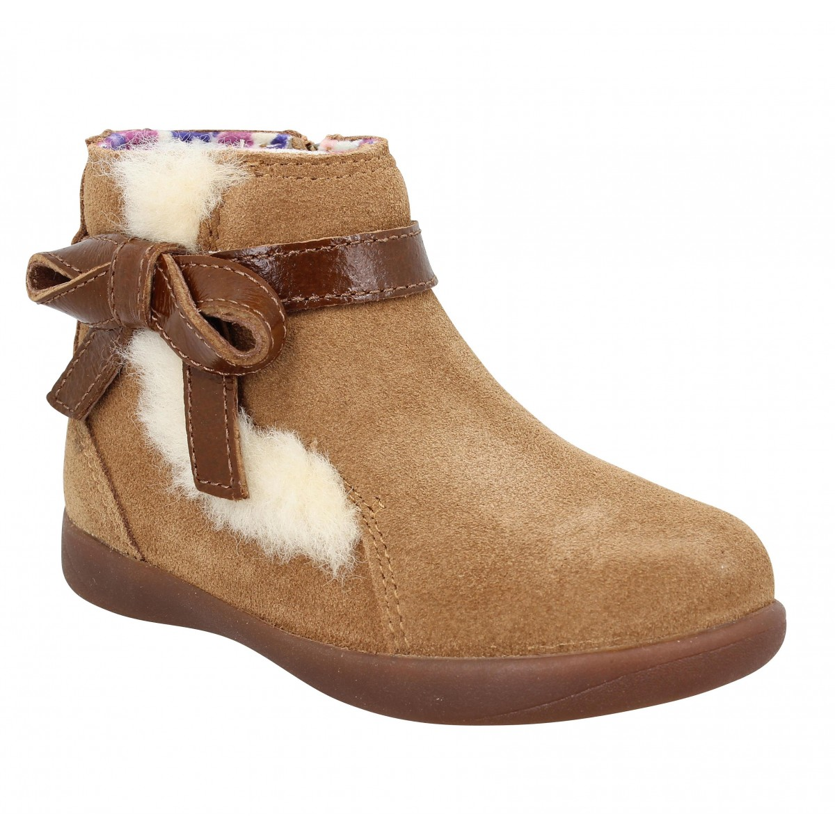 Bottines UGG Libbie velours Enfant Chestnut