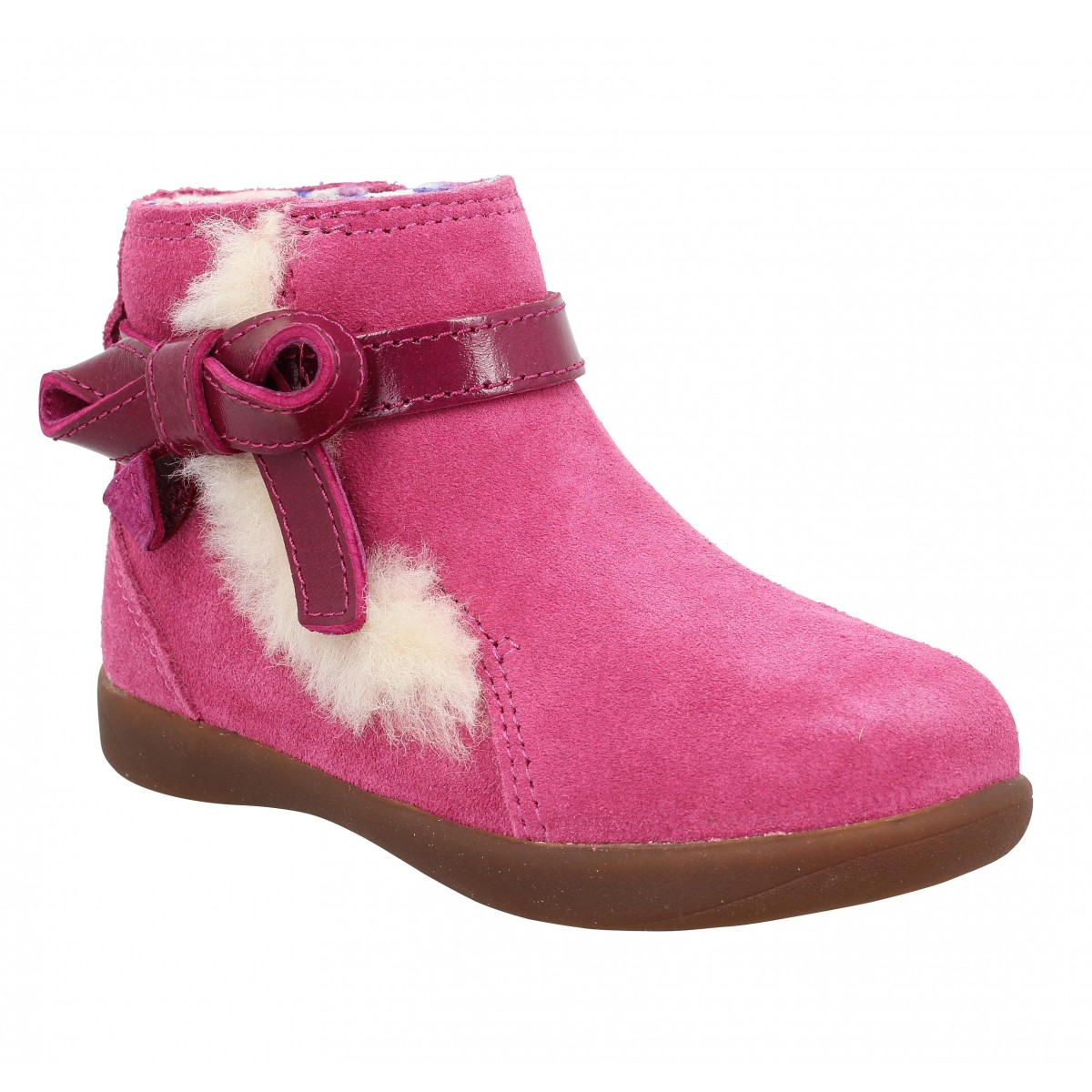 Bottines UGG Libbie velours Enfant Rose