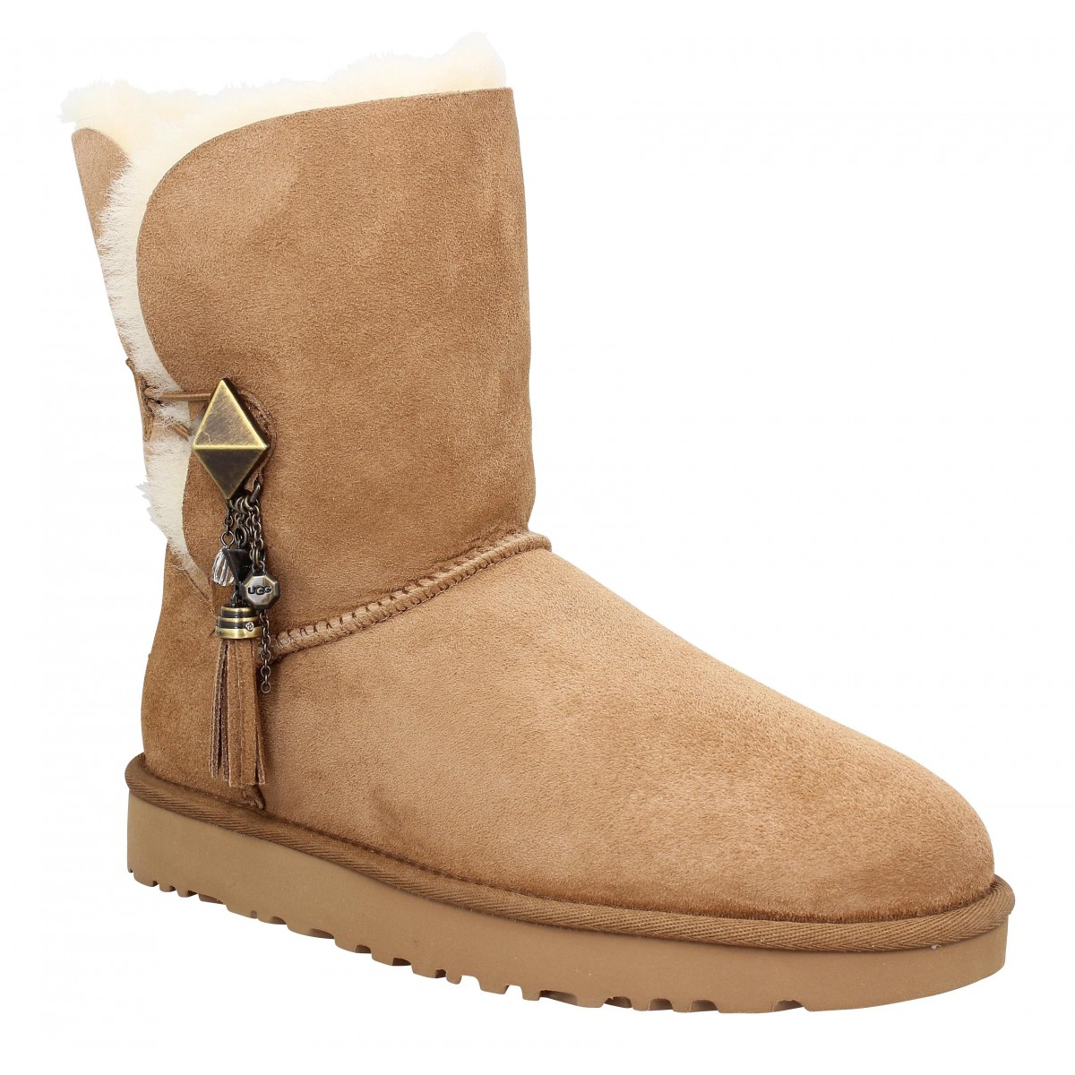 Bottines UGG Lilou velours Chestnut