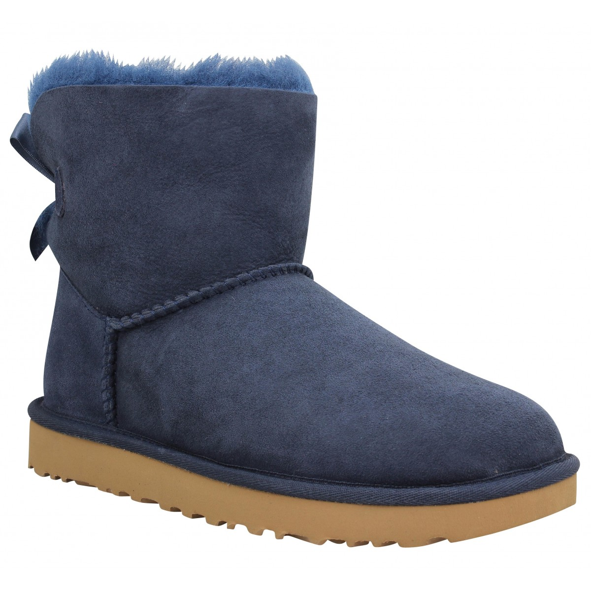 Bottines UGG Mini Bailey Bow velours Navy