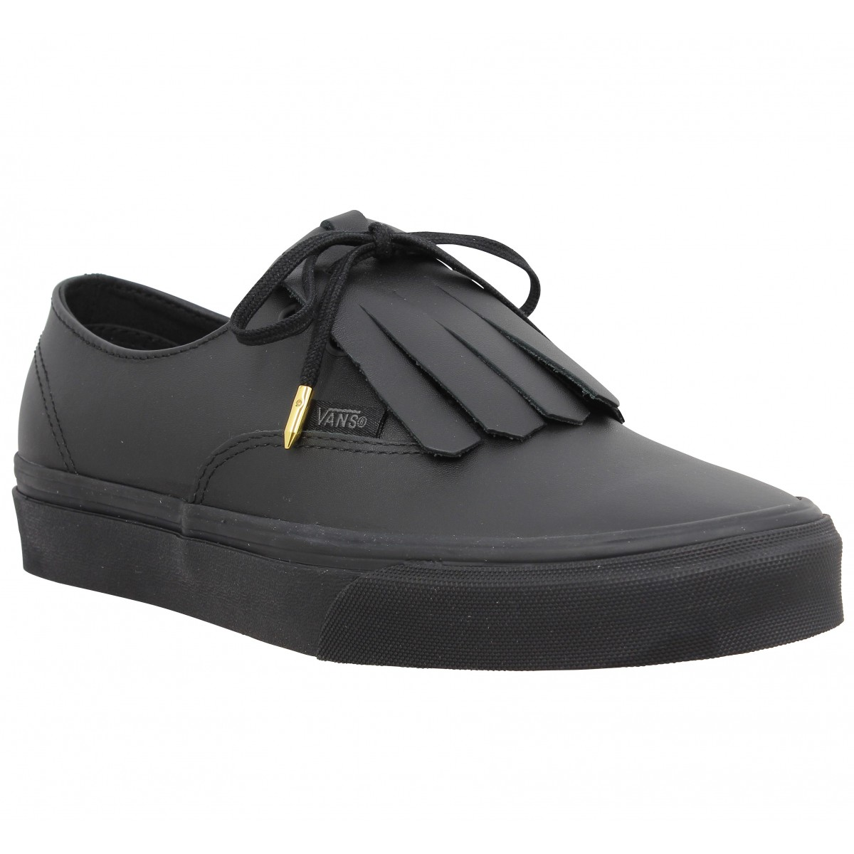 Baskets VANS Authentic Fringe cuir Noir