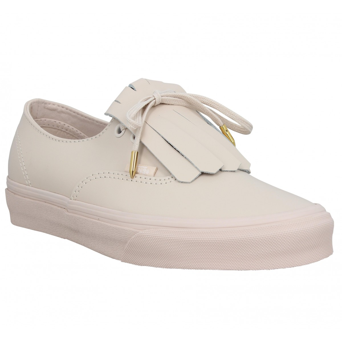 Baskets VANS Authentic Fringe cuir Whisperpink