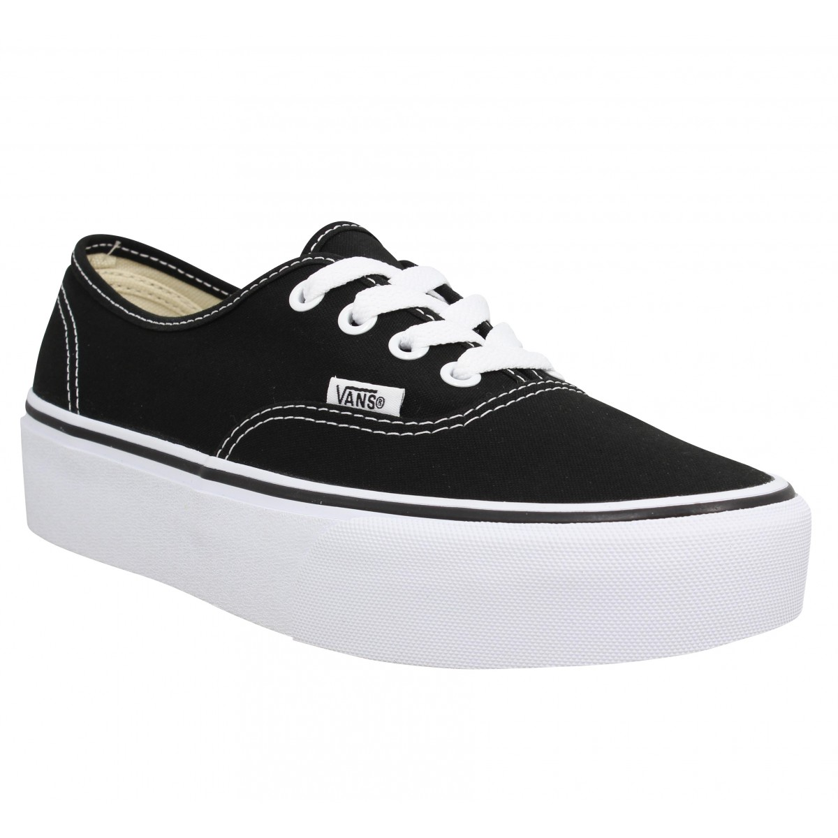 Baskets VANS Authentic Platform toile Femme Noir