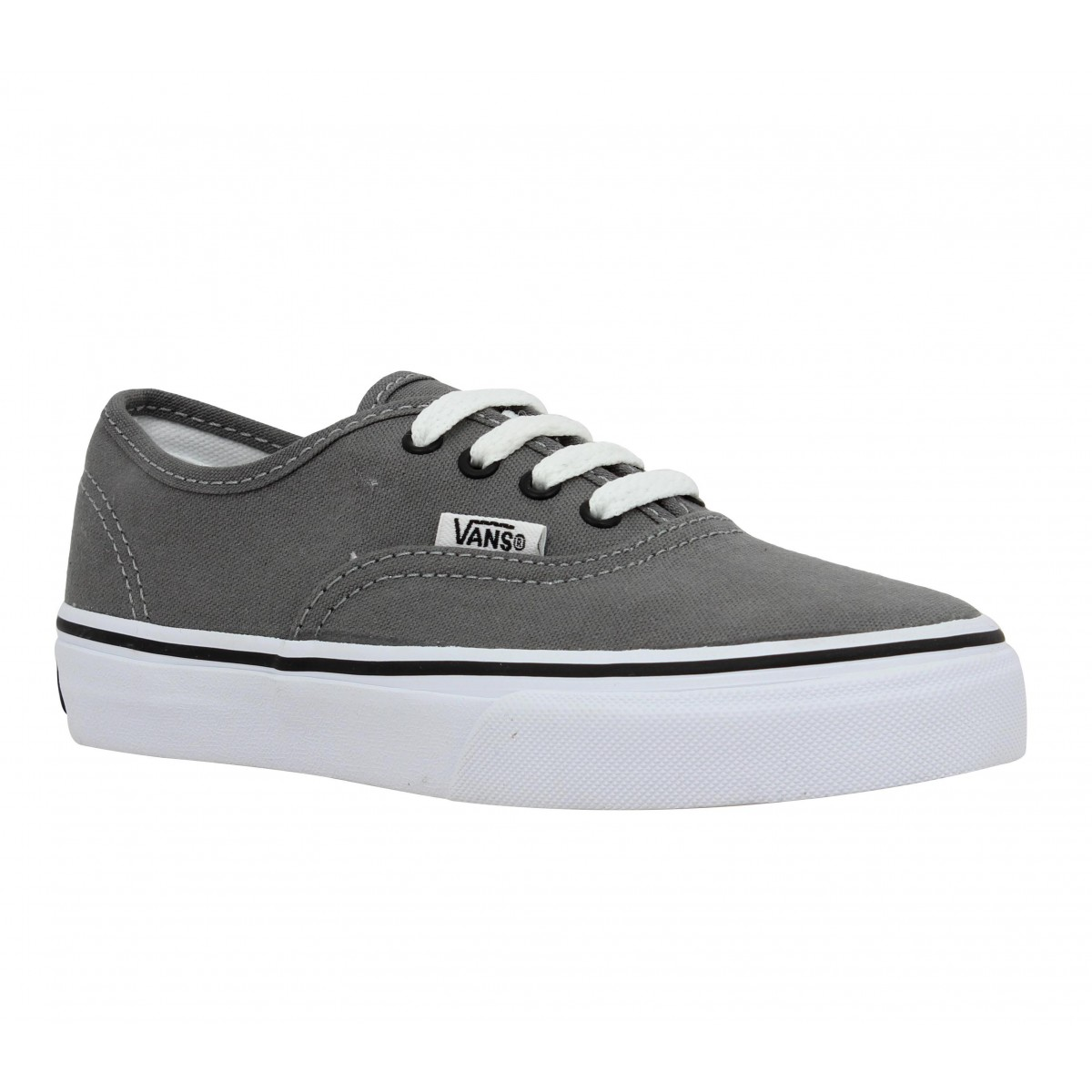 soldes vans authentic toile enfant gris fanny chaussures. Black Bedroom Furniture Sets. Home Design Ideas