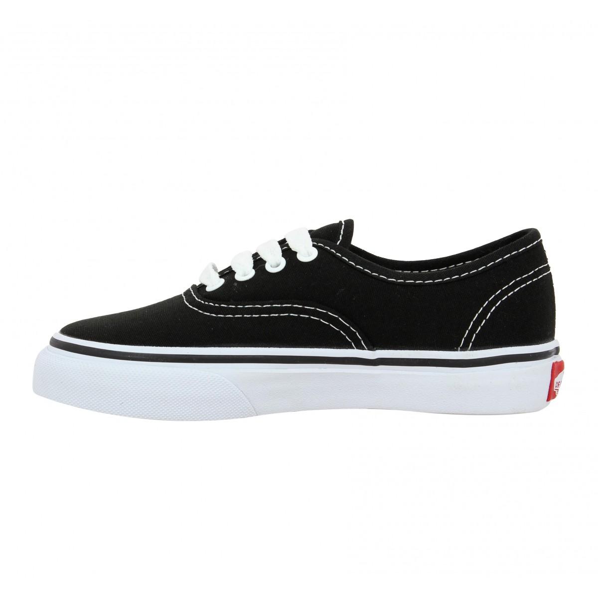 Chaussures Vans authentic toile enfant noir   Fanny chaussures