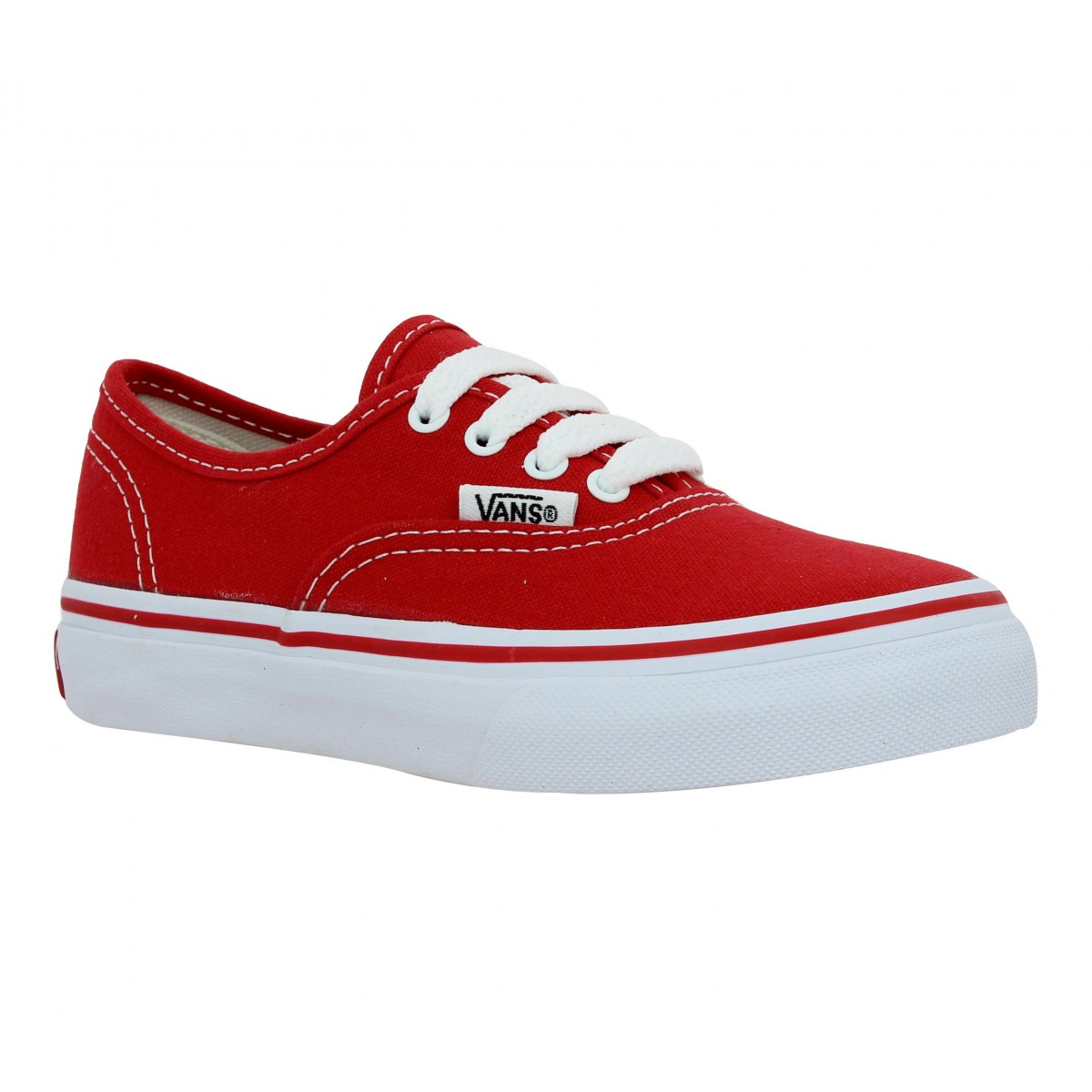 Baskets VANS Authentic toile Enfant Rouge
