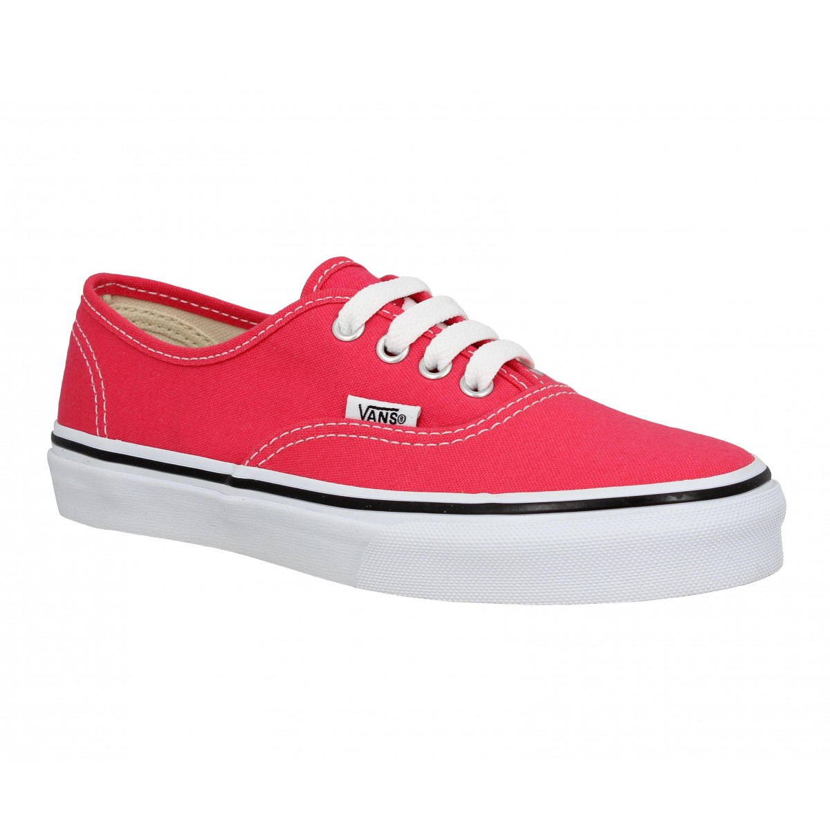 Baskets VANS Authentic toile Enfant Rouge Rose