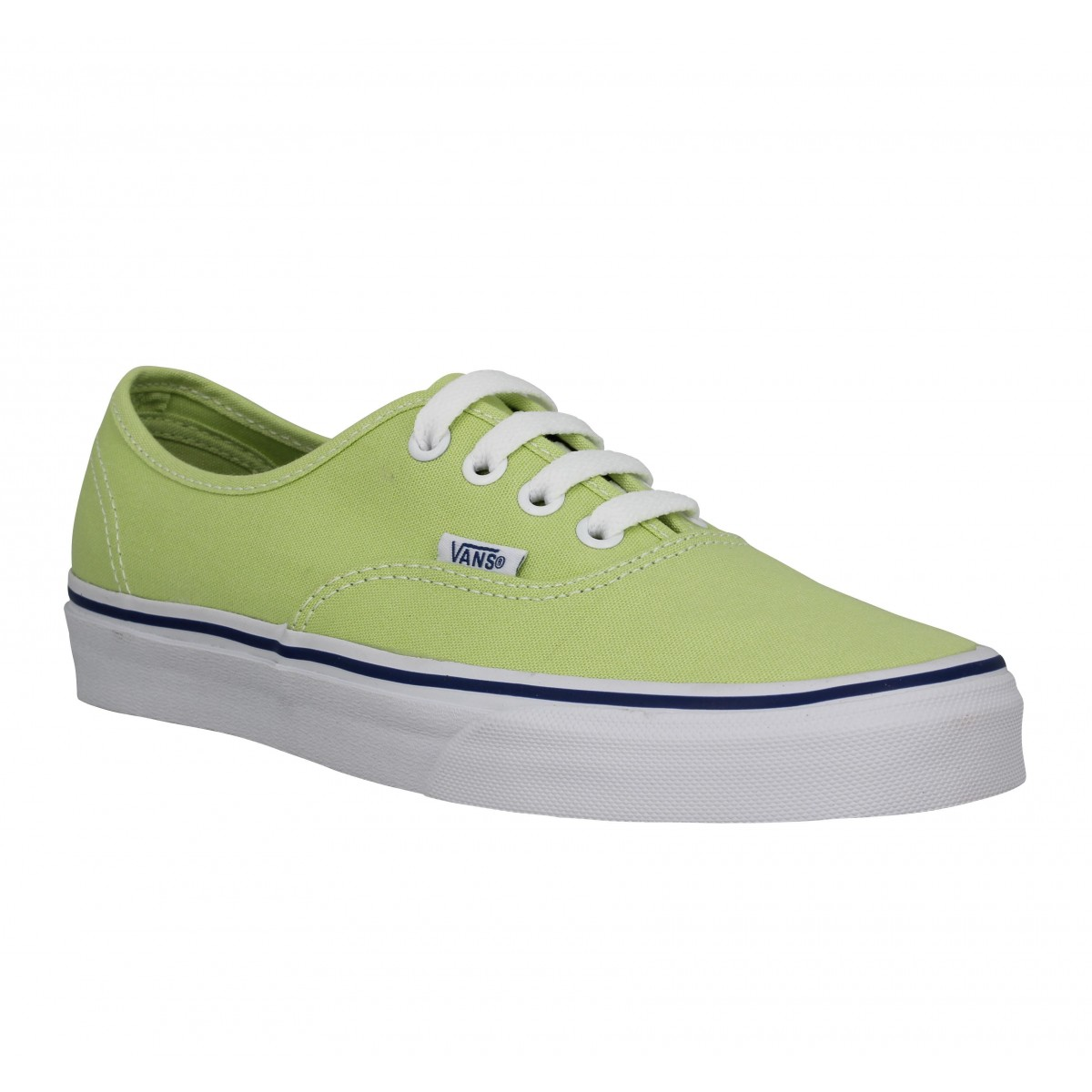 Baskets VANS Authentic toile Femme Citron Vert
