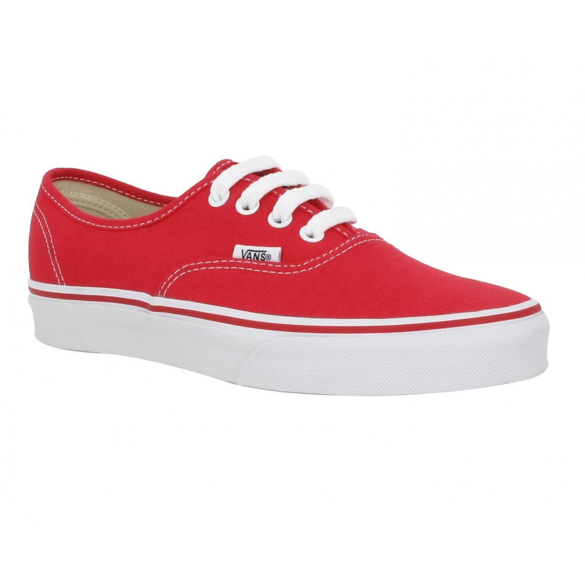 Baskets VANS Authentic toile Femme Rouge