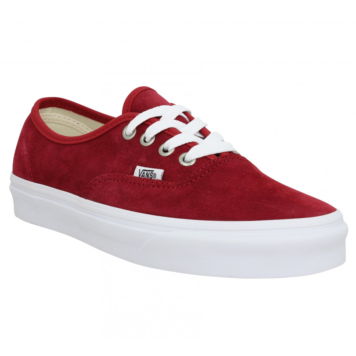 VANS Authentic velours Femme Rouge
