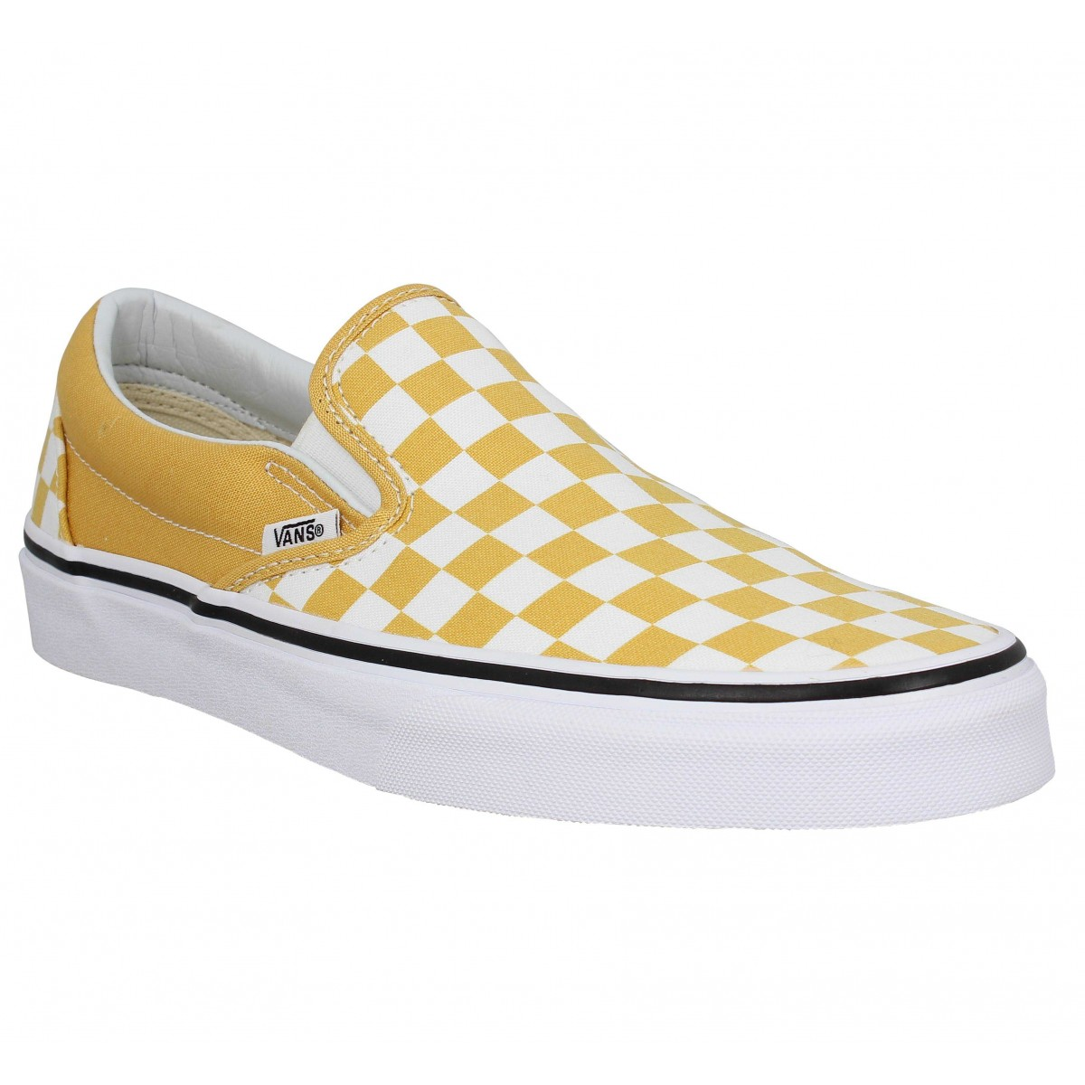 Baskets VANS Classic Slip On toile Homme Ocre