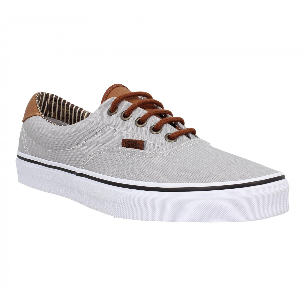 Baskets VANS Era 59 toile Homme Gris stripe
