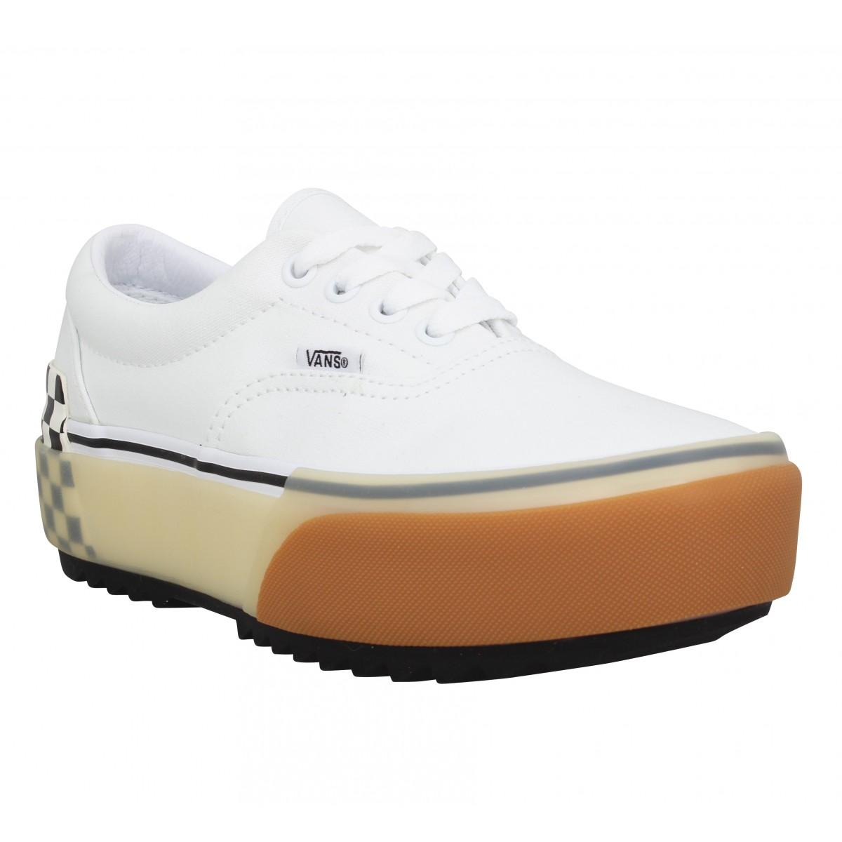 Vans Femme Era Stacked Toile -36-white...