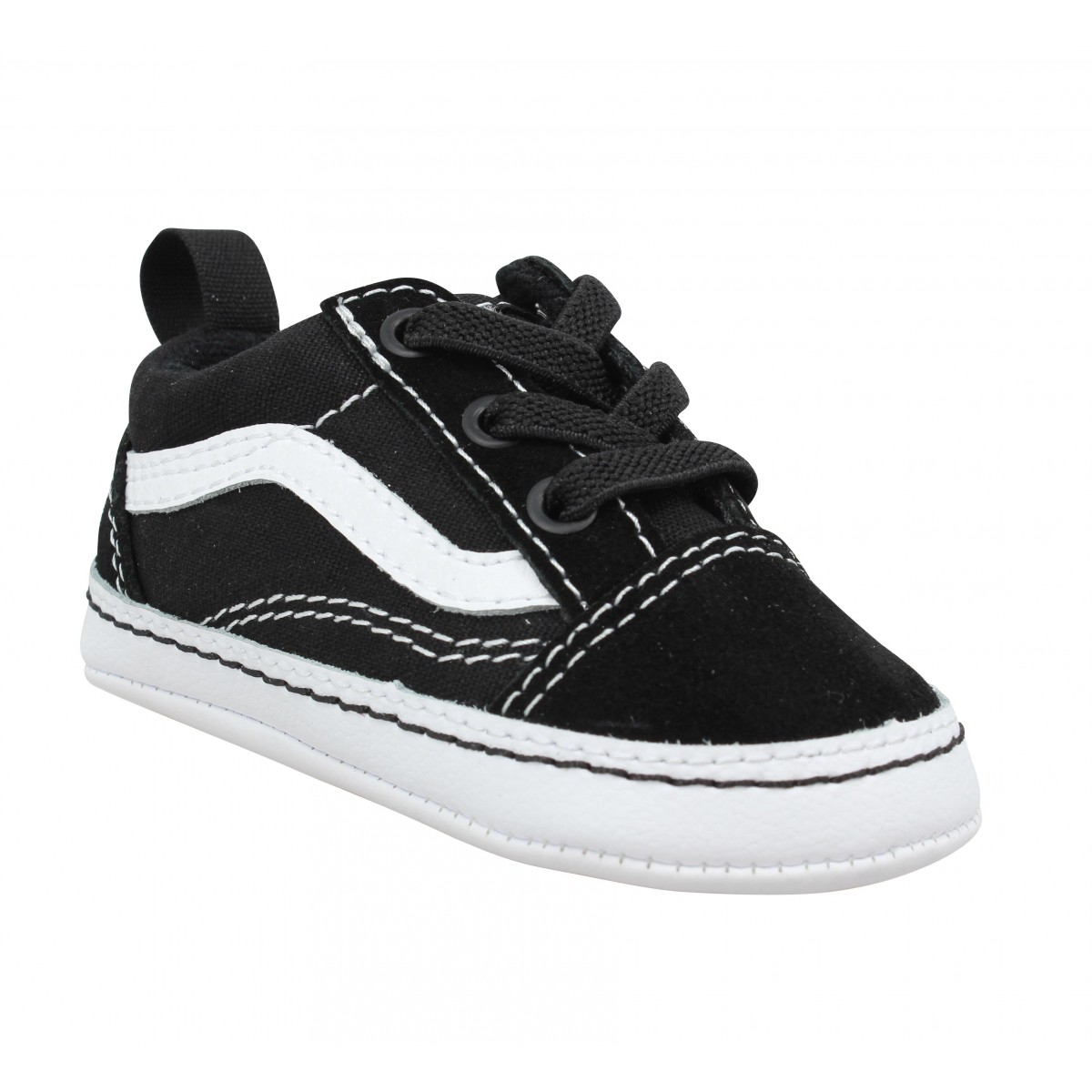 Baskets VANS Old Skool Crib velours toile Enfant Noir