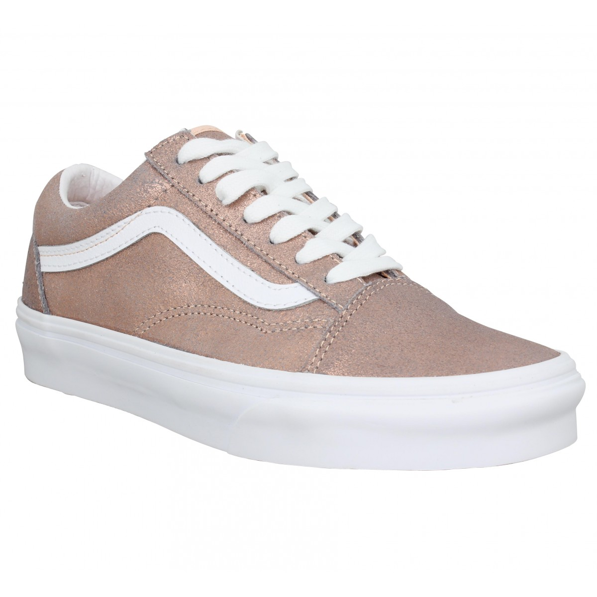 Baskets VANS Old Skool cuir Femme Rose Gold