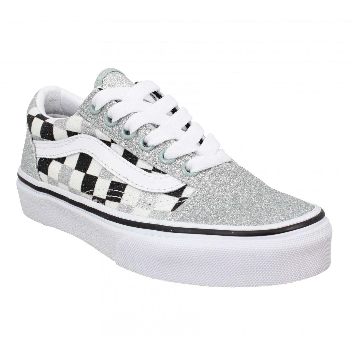 Baskets VANS Old Skool glitter Enfant Damier