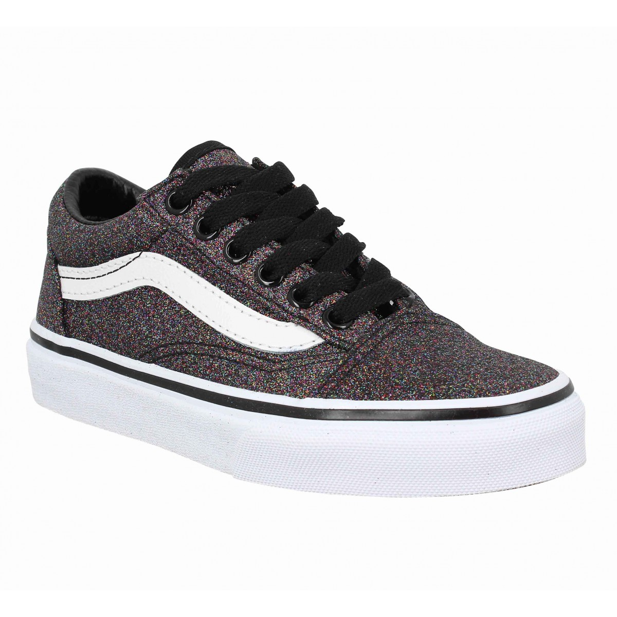 Baskets VANS Old Skool glitter Enfant Noir