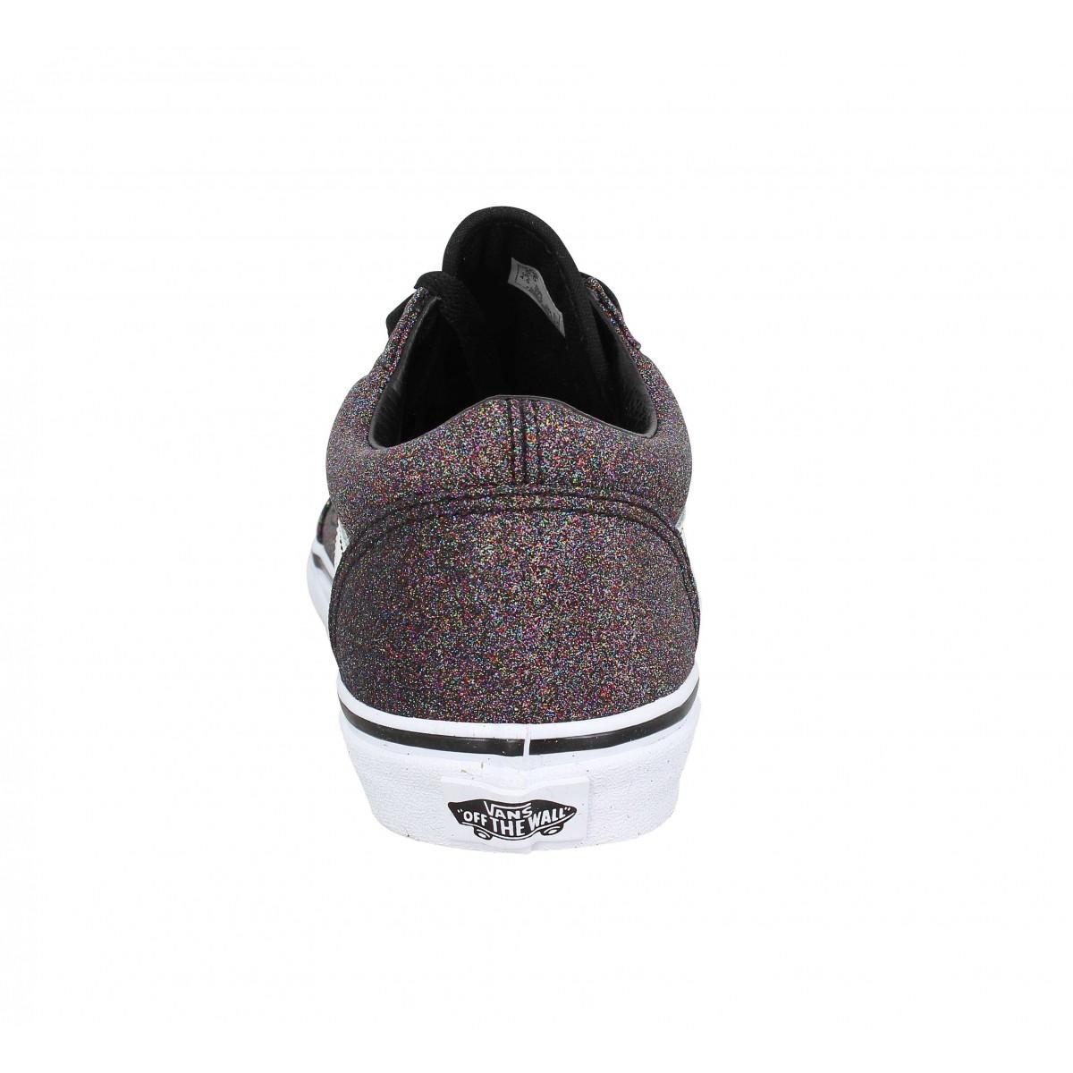 Vans old skool glitter femme noir femme   Fanny chaussures