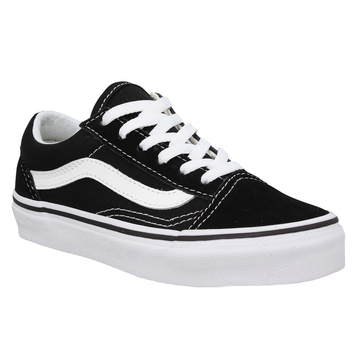 Baskets VANS Old Skool Lace velours toile Enfant Noir