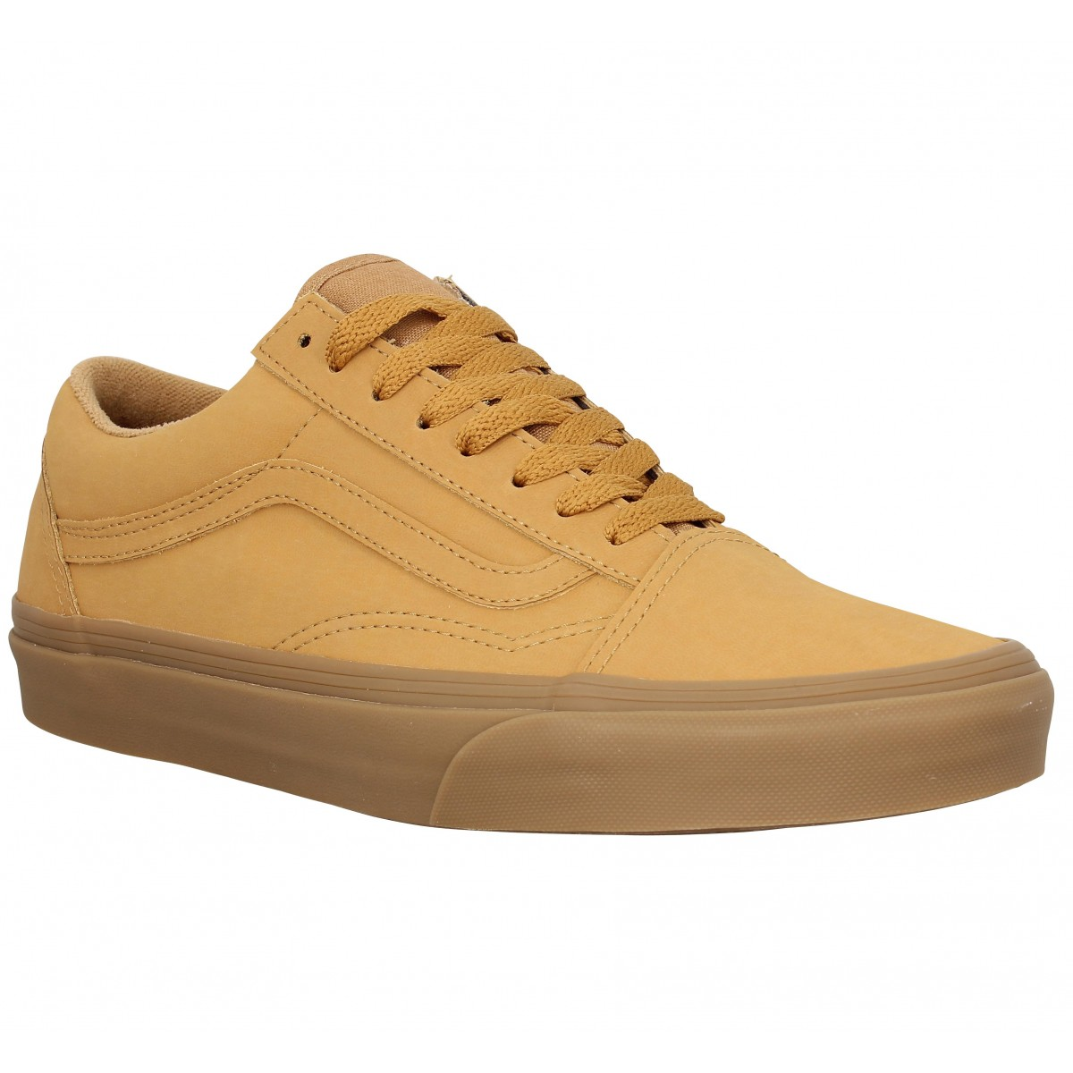 Baskets VANS Old Skool nubuck Homme Ocre