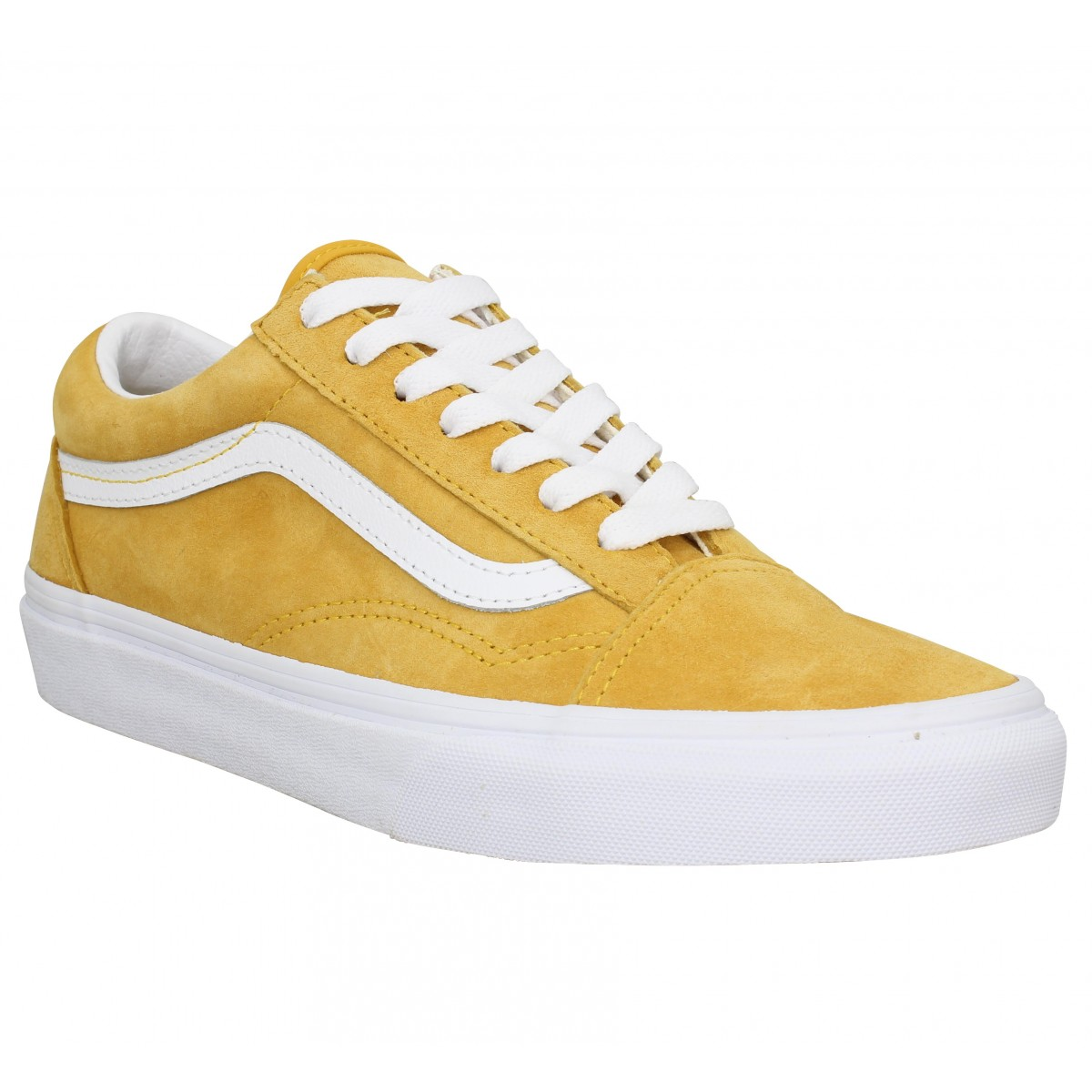 Baskets VANS Old Skool suede Jaune