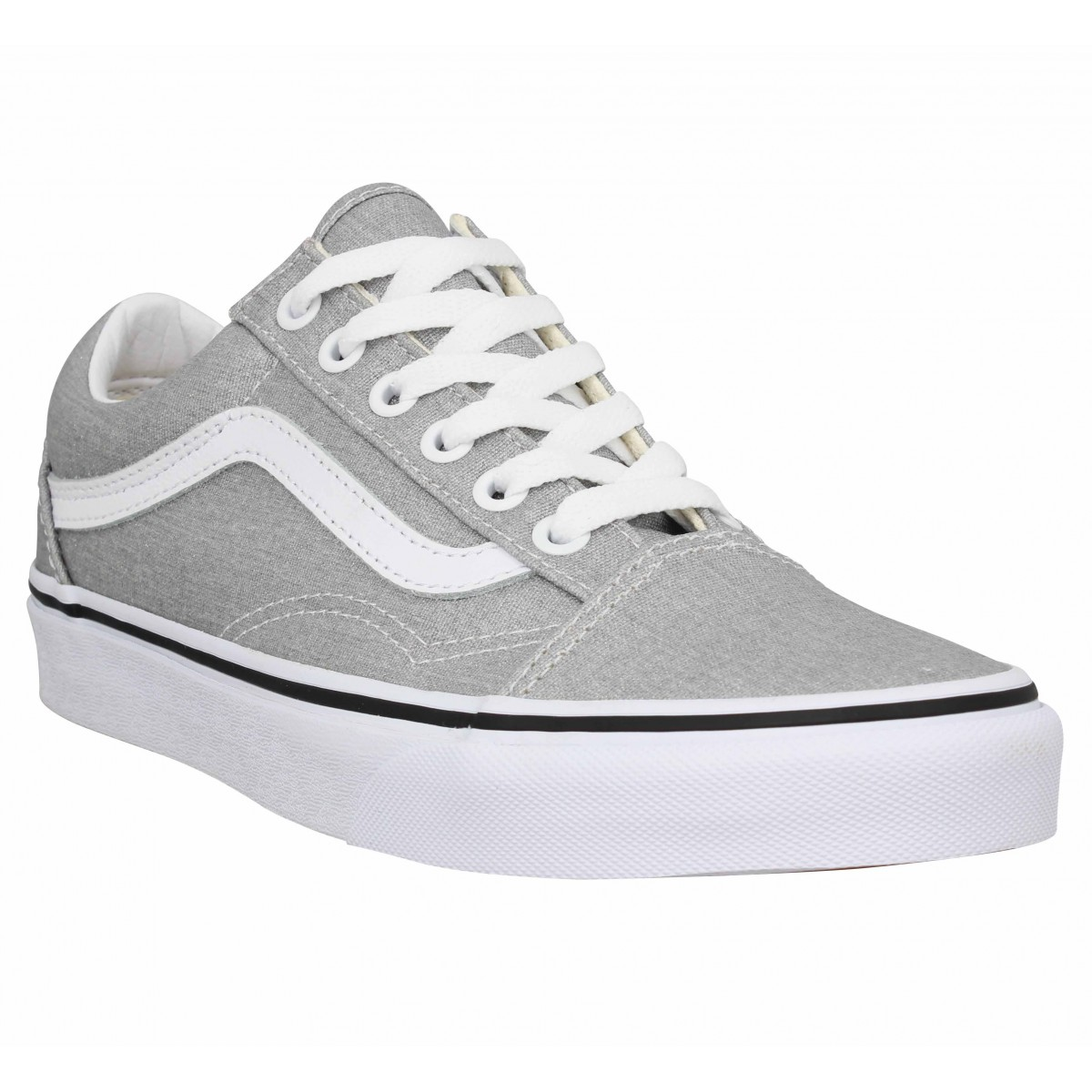 Baskets VANS Old Skool toile Femme Silver