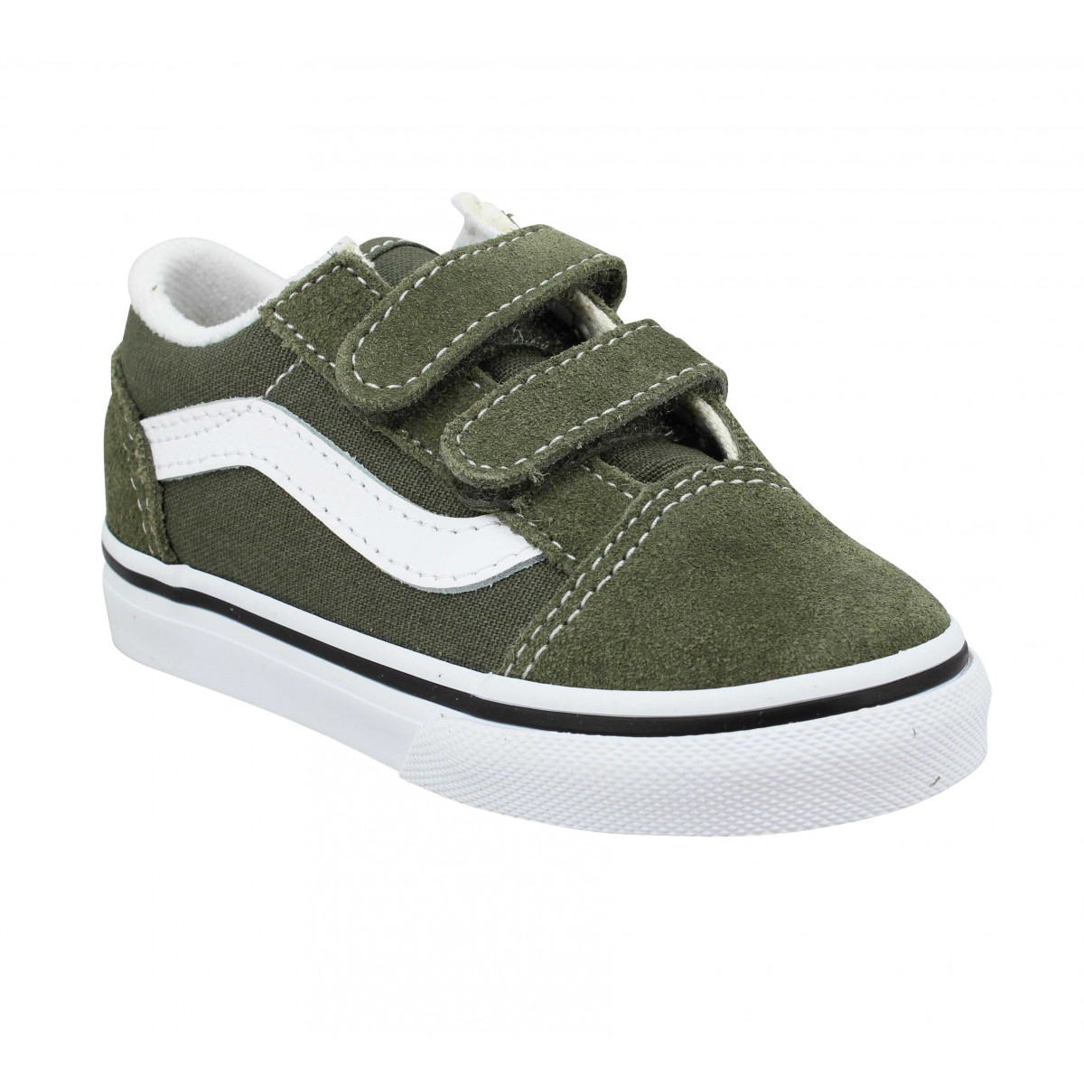 Baskets VANS Old Skool V velours toile Enfant Leaf