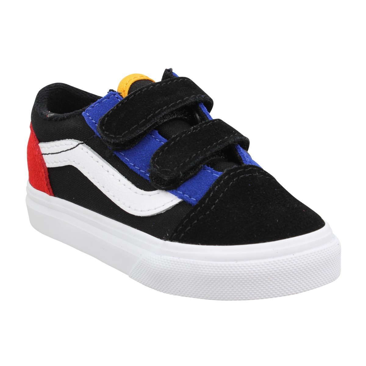 Baskets VANS Old Skool V velours toile Enfant Noir Surf