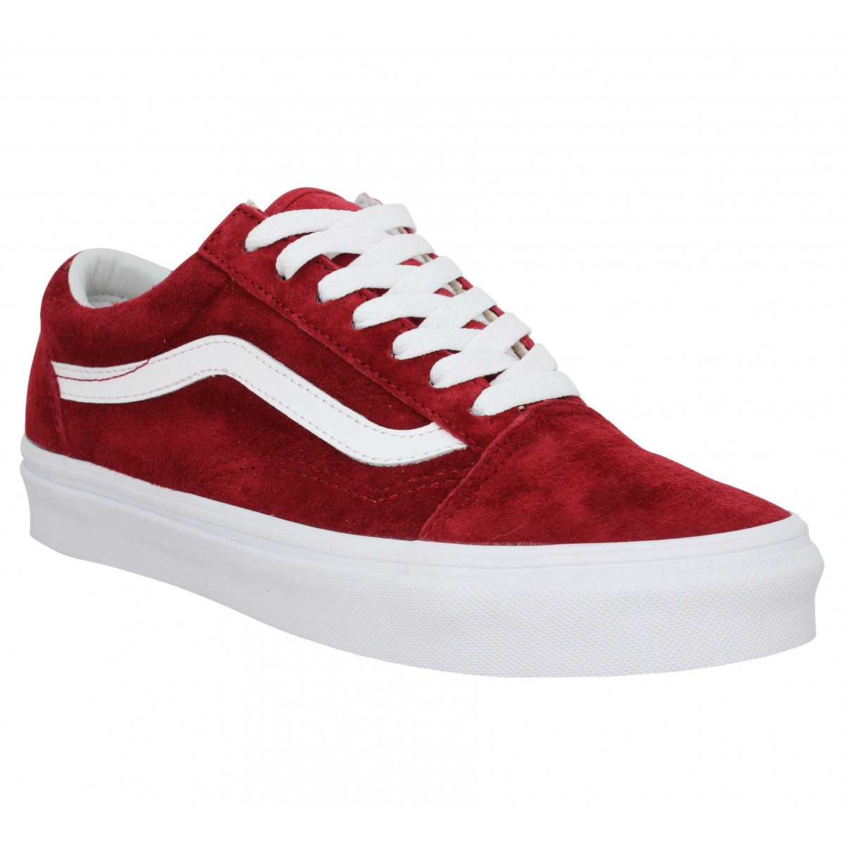 Baskets VANS Old Skool velours Femme Rouge