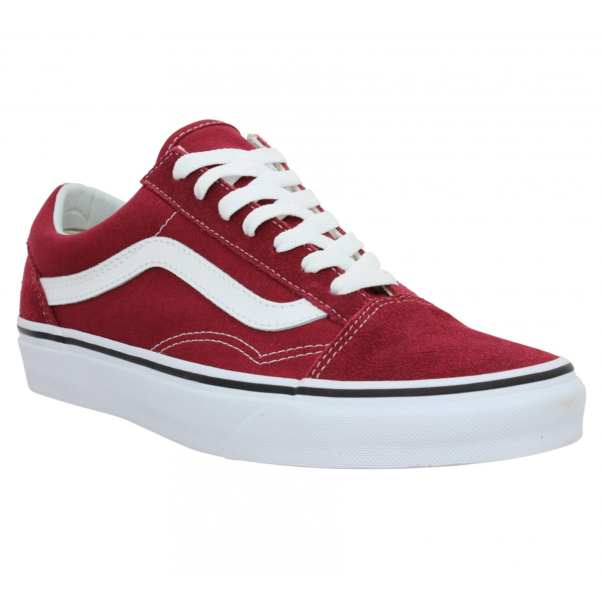 VANS Old Skool velours toile Bordeaux