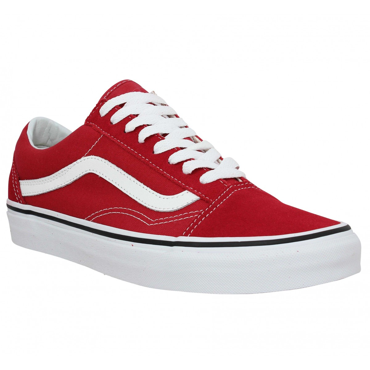 Baskets VANS Old Skool velours toile Crimson