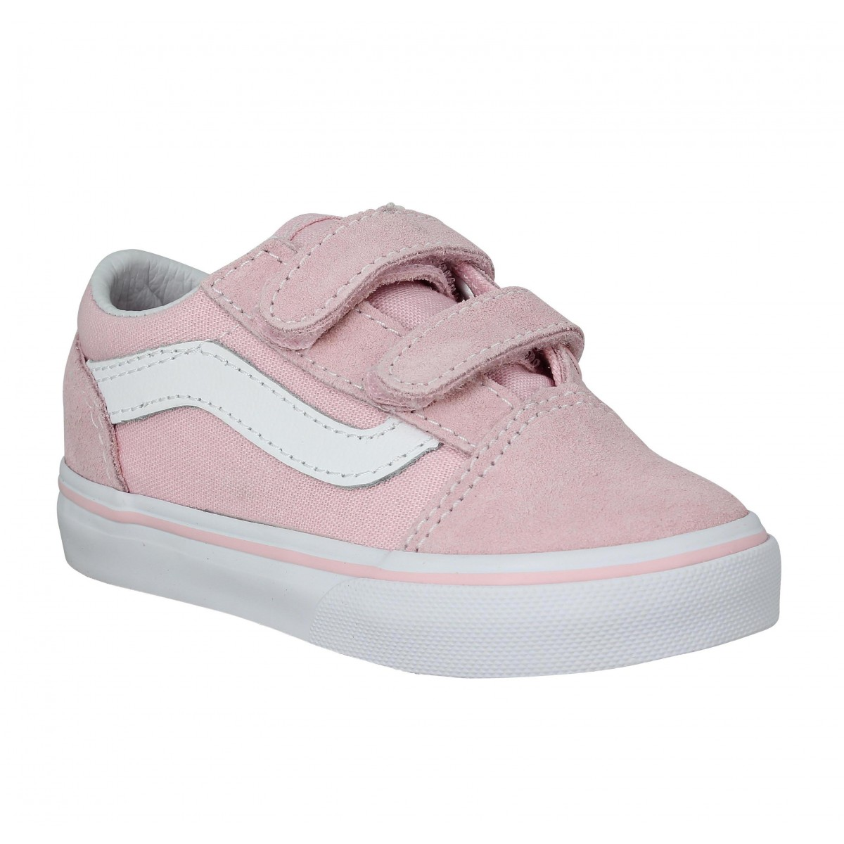 Baskets VANS Old Skool velours toile Enfant Rose