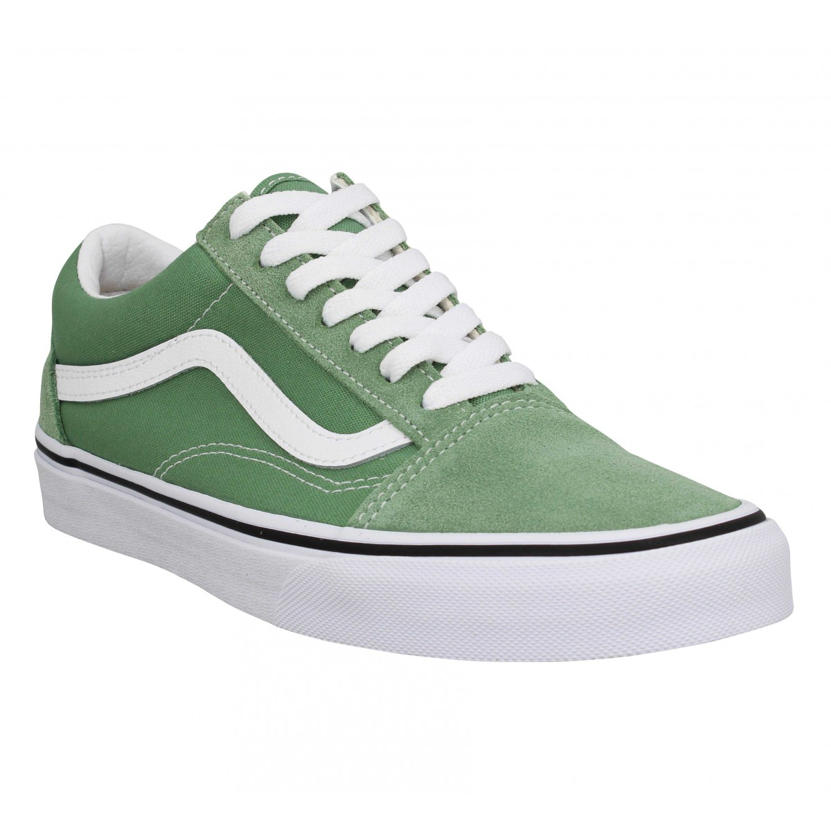 Baskets VANS Old Skool velours toile Green