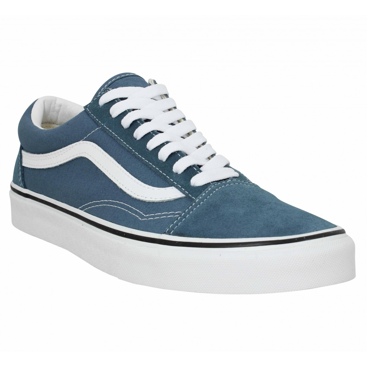 Baskets VANS Old Skool velours toile Homme Blue Mirage