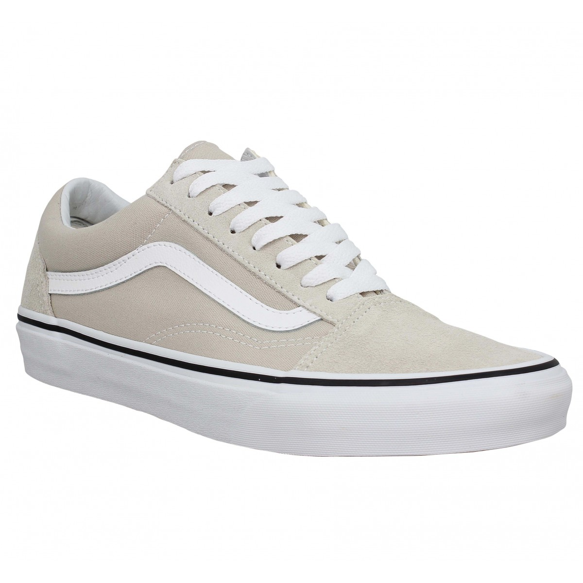 Baskets VANS Old Skool velours toile Homme Silver